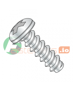 "#4 x 1/8"" Type B Self-Tapping Screws / Phillips / Pan Head / Steel / Zinc (Quantity: 10,000 pcs)"
