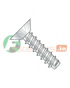 """#4 x 3/16"""" Type B Self-Tapping Screws / Phillips / Flat Undercut Head / Steel / Zinc (Quantity: 10,000 pcs)"""