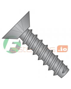 """#4 x 3/16"""" Type B Self-Tapping Screws / Phillips / Flat Undercut Head / Steel / Black Zinc (Quantity: 10,000 pcs)"""