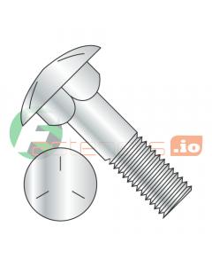 "1/2-13 x 15"" Carriage Bolts / Partial Thread / Grade 5 / Zinc / Partially Threaded / 6"" of Thread (Quantity: 10 pcs)"
