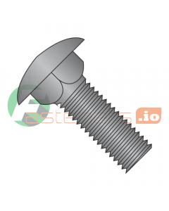"8-32 x 1"" Carriage Bolts / Full Thread / Steel / Black Oxide (Quantity: 5,000 pcs)"