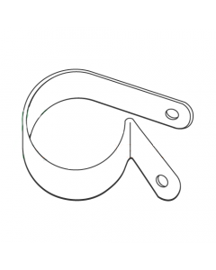 """1/2 X .140 X .605 Standard Nylon Cable Clamps / Clamping Diameter: 1/2"""" / Hole Size: .140"""" / Contact Length: .605"""" (Quantity: 2,500 pcs)"""