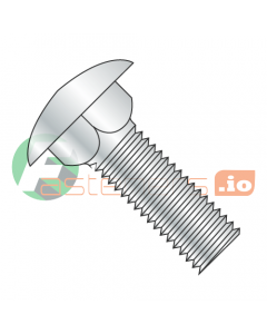 "8-32 x 3/8"" Carriage Bolts / Full Thread / Steel / Zinc (Quantity: 10,000 pcs)"