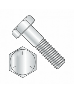 """Hex Bolts, Grade 5 Zinc Plated, 7/8""""-14 x 2 1/4"""" (Quantity: 10 pcs) Made in USA, Fully Threaded UNF Thread (Thread 7/8"""") x (Length: 2 1/4"""")"""