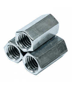 """1 1/2""""-6 x 4"""" (2"""" AF) Hex Coupling Nuts / A563 Grade A Steel / Hot Dip Galvanized (Quantity: 20)"""