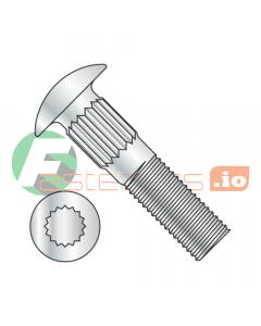 "1/4-20 x 1/2"" Ribbed Neck Carriage Bolts / Steel / Zinc (Quantity: 2,000 pcs)"