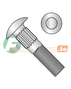 """1/4-20 x 1/2"""" Ribbed Neck Carriage Bolts / 18-8 Stainless Steel (Quantity: 800 pcs)"""