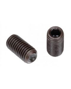 "Socket Set Screw, Cup Point, 1-72 x 3/32"", Alloy Steel, Black Oxide, Hex Socket (Quantity: 100)"