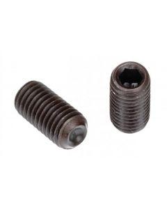 "Socket Set Screw, Cup Point, 12-28 x 3/8"", Alloy Steel, Black Oxide, Hex Socket (Quantity: 100)"