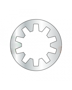 M2.5 Internal Tooth Lock Washers / Steel / Zinc / DIN6797J / Outer Diameter: 5.4 - 5.7 mm / Thickness Range : .275 - .325 mm (Quantity: 10,000 pcs)