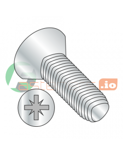 M2.5-0.45 x 10 mm Full Trilobe Thread Forming Screws / Pozi / Flat Head / Steel / Zinc / DIN7500M (Quantity: 1,500 pcs)