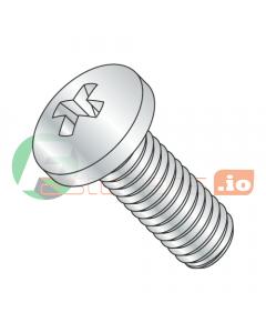 M1.6-0.35 x 12 mm Machine Screws / Phillips / Pan Head / Steel / Zinc / DIN7985A (Quantity: 8,000 pcs)