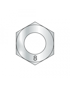 M10-1.25 Finished Hex Nuts / Metric Class 8 Steel / Zinc Plated DIN 934 (Quantity: 1000)