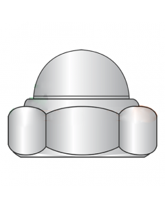 M6-1.0 Nylon Insert Dome Cap Locknuts / 18-8 Stainless Steel / DIN 986 (Quantity: 1000 pcs)