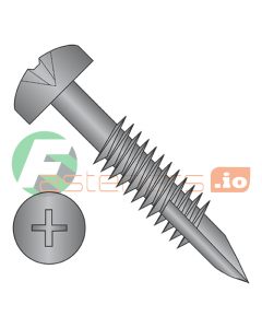 "#6 x 1 1/4"" (#7 Head) Deep Thread Wood Screws / Face Framing / Phillips / Pan Head / Type 17 Point / Steel / Black Oxide / Fine Thread / Type 17 Point / 2/3 Thread (Quantity: 7,000 pcs)"