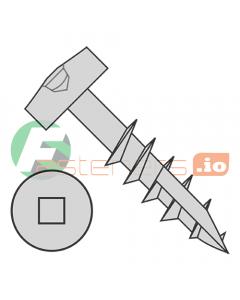 "#7 x 1 1/4"" Deep Thread Wood Screws / Pocket Hole / Square Drive / Modified Pan Head / Type 17 Point / Steel / Plain / Coarse Thread / Type 17 Point Point & Chip Cavity (Quantity: 9,000 pcs)"