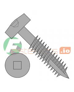 "#6 x 1"" Deep Thread Wood Screws / Pocket Hole / Square Drive / Modified Pan Head / Type 17 Point / Steel / Plain / Fine Thread / Type 17 Point Point & Chip Cavity / Partial Thread (Quantity: 9,000 pcs)"