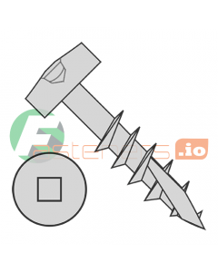"#7 x 1 1/4"" Deep Thread Wood Screws / Pocket Hole / Square Drive / Modified Pan Head / Type 17 Point (Long) / Steel / Plain / Coarse Thread / Extra Long Type 17 Point Point & Chip Cavity (Quantity: 9,000 pcs)"