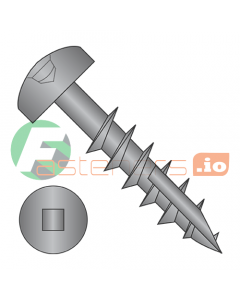 "#6 x 1 1/4"" (#7 Head) Deep Thread Wood Screws / Face Framing / Square Drive / Pan Head / Type 17 Point / Steel / Black Oxide / Coarse Thread / Type 17 Point Point & Chip Cavity / Partial Thread (Quantity: 7,000 pcs)"