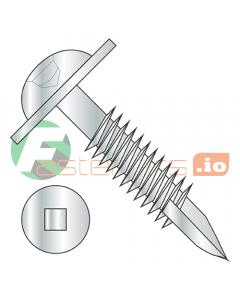"#7 x 1 1/4"" Deep Thread Wood Screws / Pocket Hole / Square Drive / Round Washer Head / Type 17 Point / Steel / Zinc / Fine Thread / Type 17 Point Point & Chip Cavity (Quantity: 7,000 pcs)"
