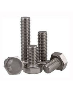 M6-1.0 x 28mm Hex Cap Screws, A4  Stainless Steel (Quantity: 1500) Coarse Thread (UNC) Fully Threaded
