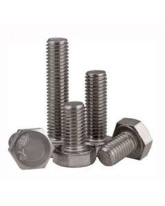 M5-0.8 x 25mm Hex Head Cap Screws, Stainless Steel A4, Plain Finish (Quantity: 2500 pcs) - Coarse Thread Metric, Fully Threaded, 25mm Metric, Thread M5 Metric
