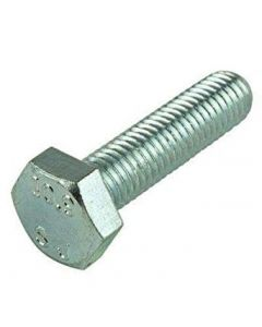 M6-1.0 x 16mm Hex Head Cap Screws, Steel Metric Class 8.8, Zinc Plating (Quantity: 3000 pcs) - Coarse Thread Metric, Fully Threaded, Length: 16mm Metric, Thread Size: M6 Metric