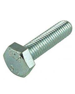 M10-1.0 x 40mm Hex Head Cap Screws, Steel Metric Class 8.8, Zinc Plating (Quantity: 100 pcs) - Fine Thread Metric, Fully Threaded, Length: 40mm Metric, Thread Size: M10 Metric