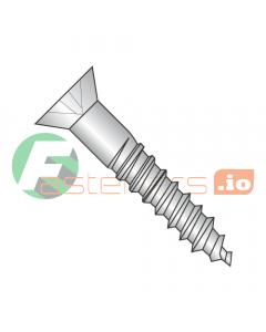 "#6 x 1"" Wood Screws / Phillips / Flat Head / 18-8 Stainless Steel (Quantity: 3,500 pcs)"
