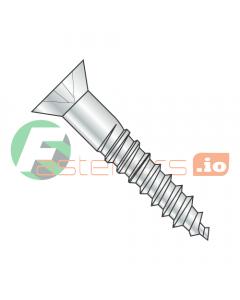 "#6 x 1 1/4"" Wood Screws / Phillips / Flat Head / Steel / Zinc (Quantity: 5,000 pcs)"