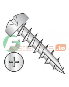 "#7 x 5/8"" Deep Thread Wood Screws / Phillips / Pan Head / Type 17 Point Pt / Steel / Zinc / Type 17 Point Point / Full Thread (Quantity: 8,000 pcs)"