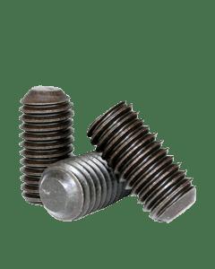 Socket Set Screw, Flat Point, DIN 913, M20-1.5 x 50mm, Alloy Steel  Metric Class 14.9 - 45H, Black Oxide, Hex Socket (Quantity: 100)