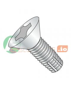 """2-56 x 1/4"""" Type F Thread Cutting Screws / Phillips / Flat Head / Steel / Zinc (Quantity: 10,000 pcs)"""