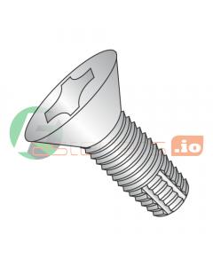 "2-56 x 1/4"" Type F Thread Cutting Screws / Phillips / Flat Head / 18-8 Stainless Steel (Quantity: 10,000 pcs)"