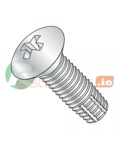 """6-32 x 1/2"""" Type F Thread Cutting Screws / Phillips / Oval Head / Steel / Zinc (Quantity: 10,000 pcs)"""