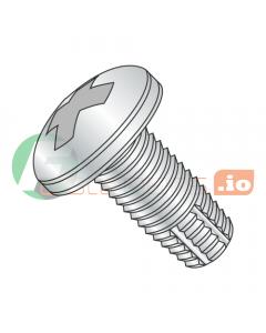 """2-56 x 1/8"""" Type F Thread Cutting Screws / Phillips / Pan Head / Steel / Zinc (Quantity: 10,000 pcs)"""