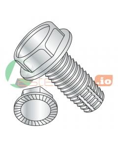 """1/2-13 x 1"""" Type F Thread Cutting Screws / Unslotted / Hex Washer Head / Steel / Zinc / Serrated / Serrations Under Head (Quantity: 500 pcs)"""