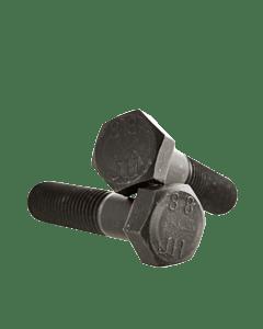 M10-1.25 x 60mm Hex Head Cap Screws, Steel Metric Class 8.8, Plain Finish (Quantity: 100 pcs) - Fine Thread Metric, Partially Threaded, 60mm Metric, Thread M10 Metric