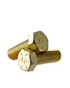 1/2-20 x 1 3/8 Hex Head Cap Screws, Alloy Steel Grade 8, Zinc Yellow Plating (Quantity: 350 pcs) - Fine Thread UNF, Fully Threaded, Length: 1 3/8 Inch, Thread Size: 1/2 Inch