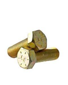 9/16-18 x 1 3/4 Hex Head Cap Screws, Alloy Steel Grade 8, Zinc Yellow Plating (Quantity: 25 pcs) - Fine Thread UNF, Fully Threaded, Length: 1 3/4 Inch, Thread Size: 9/16 Inch