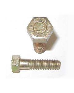 9/16-12 x 2 Hex Head Cap Screws, Alloy Steel Grade 9, Zinc Yellow Plating (Quantity: 350 pcs) - Coarse Thread UNC, Partially Threaded, 2 Inch, Thread 9/16 Inch