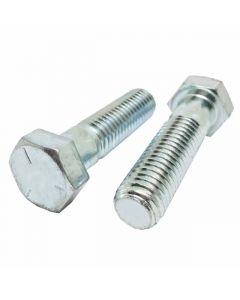 1-14 x 5 Hex Head Cap Screws, Steel Grade 5, Zinc Plating (Quantity: 25 pcs) - Fine Thread UNF, Partially Threaded, 5 Inch, Thread 1 Inch