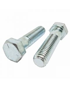 5/16-24 x 5 Hex Head Cap Screws, Steel Grade 5, Zinc Plating (Quantity: 250 pcs) - Fine Thread UNF, Partially Threaded, 5 Inch, Thread 5/16 Inch
