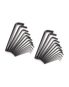 "1/16"" - 1/4"" Long Arm Hex Key-Allen Wrench Sets / Alloy Steel / Black Oxide / 11 Keys per set: .050, 1/16, 5/64, 3/32, 7/64, 1/8, 9/64, 5/32, 3/16, 7/32, 1/4 (Carton: 6 pcs)"