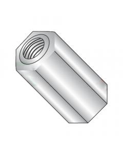 "3/8"" OD Hex Standoffs (Female-Female) / 10-32 x 1/8"" / Aluminum / Outer Diameter: 3/8"" / Thread Size: 10-32 / Length: 1/8"" (Quantity: 1,000 pcs)"