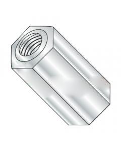 "1/4"" OD Hex Standoffs (Female-Female) / 4-40 x 1/4"" / Brass / Nickel / Outer Diameter: 1/4"" / Thread Size: 4-40 / Length: 1/4"" (Quantity: 500 pcs)"