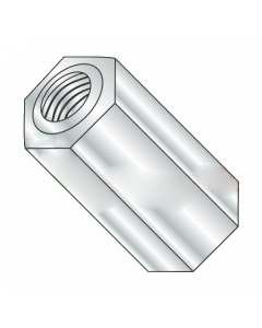 "1/4"" OD Hex Standoffs (Female-Female) / 4-40 x 3/8"" / Brass / Nickel / Outer Diameter: 1/4"" / Thread Size: 4-40 / Length: 3/8"" (Quantity: 500 pcs)"