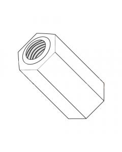 "1/4"" OD Hex Standoffs (Female-Female) / 4-40 x 9/16"" / Nylon / Outer Diameter: 1/4"" / Thread Size: 4-40 / Length: 9/16"" (Quantity: 1,000 pcs)"