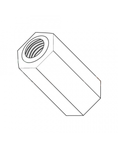 "1/4"" OD Hex Standoffs (Female-Female) / 4-40 x 53/64"" / Nylon / Outer Diameter: 1/4"" / Thread Size: 4-40 / Length: 53/64"" (Quantity: 1,000 pcs)"