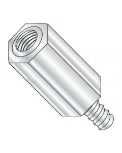 "1/4"" OD Hex Standoffs (Male-Female) / 6-32 x 1/4"" / Aluminum / Outer Diameter: 1/4"" / Thread Size: 6-32 / Length: 1/4"" (Quantity: 1,000 pcs)"
